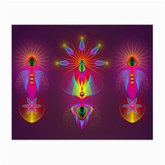 Abstract Bright Colorful Background Small Glasses Cloth