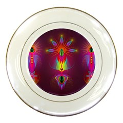 Abstract Bright Colorful Background Porcelain Plates