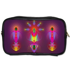 Abstract Bright Colorful Background Toiletries Bags 2 Side