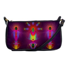 Abstract Bright Colorful Background Shoulder Clutch Bags