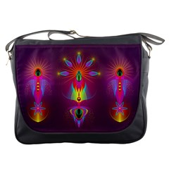 Abstract Bright Colorful Background Messenger Bags