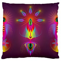 Abstract Bright Colorful Background Large Cushion Case (two Sides)