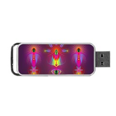 Abstract Bright Colorful Background Portable Usb Flash (one Side)