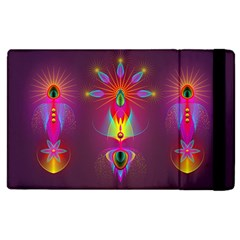 Abstract Bright Colorful Background Apple Ipad 2 Flip Case