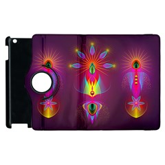Abstract Bright Colorful Background Apple Ipad 3/4 Flip 360 Case