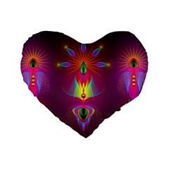 Abstract Bright Colorful Background Standard 16  Premium Heart Shape Cushions