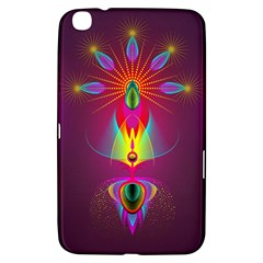 Abstract Bright Colorful Background Samsung Galaxy Tab 3 (8 ) T3100 Hardshell Case