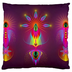 Abstract Bright Colorful Background Standard Flano Cushion Case (two Sides)