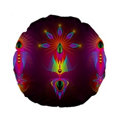 Abstract Bright Colorful Background Standard 15  Premium Flano Round Cushions