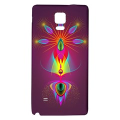 Abstract Bright Colorful Background Galaxy Note 4 Back Case