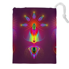 Abstract Bright Colorful Background Drawstring Pouches (xxl)