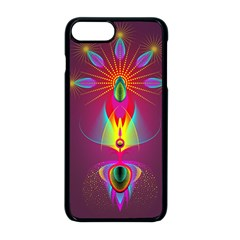 Abstract Bright Colorful Background Apple Iphone 8 Plus Seamless Case (black)