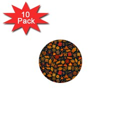 Pattern Background Ethnic Tribal 1  Mini Buttons (10 Pack)