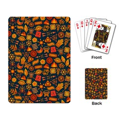 Pattern Background Ethnic Tribal Playing Card