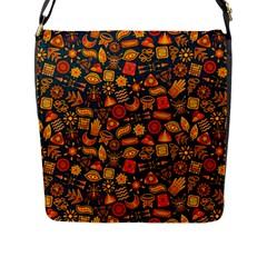 Pattern Background Ethnic Tribal Flap Messenger Bag (l)