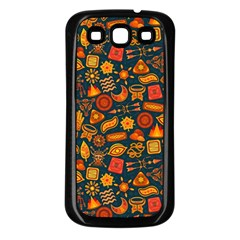 Pattern Background Ethnic Tribal Samsung Galaxy S3 Back Case (black)