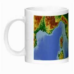 Italy Alpine Alpine Region Map Night Luminous Mugs