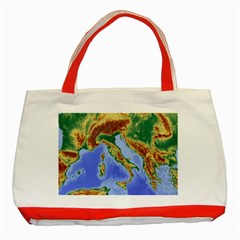 Italy Alpine Alpine Region Map Classic Tote Bag (red)