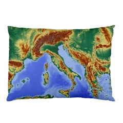 Italy Alpine Alpine Region Map Pillow Case