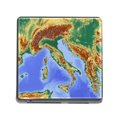 Italy Alpine Alpine Region Map Memory Card Reader (square)