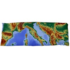 Italy Alpine Alpine Region Map Body Pillow Case Dakimakura (two Sides)