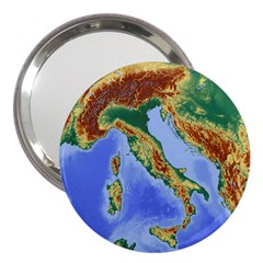 Italy Alpine Alpine Region Map 3  Handbag Mirrors