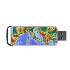 Italy Alpine Alpine Region Map Portable Usb Flash (two Sides)