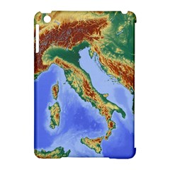 Italy Alpine Alpine Region Map Apple Ipad Mini Hardshell Case (compatible With Smart Cover)