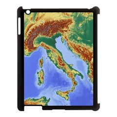 Italy Alpine Alpine Region Map Apple Ipad 3/4 Case (black)