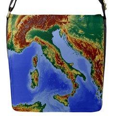 Italy Alpine Alpine Region Map Flap Messenger Bag (s)