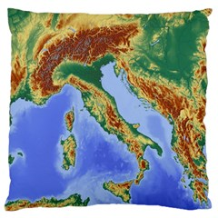 Italy Alpine Alpine Region Map Large Flano Cushion Case (two Sides)