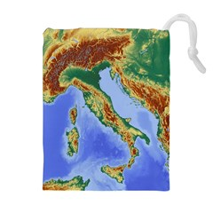 Italy Alpine Alpine Region Map Drawstring Pouches (extra Large)