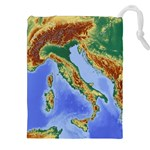 Italy Alpine Alpine Region Map Drawstring Pouches (XXL) Front