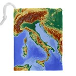 Italy Alpine Alpine Region Map Drawstring Pouches (XXL) Back