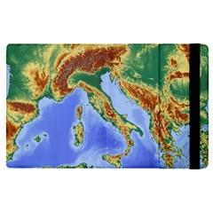 Italy Alpine Alpine Region Map Apple Ipad Pro 12 9   Flip Case
