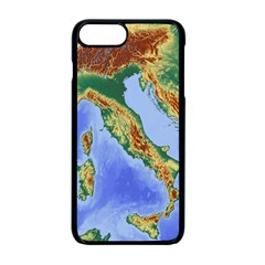 Italy Alpine Alpine Region Map Apple Iphone 7 Plus Seamless Case (black)