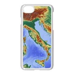 Italy Alpine Alpine Region Map Apple Iphone 7 Seamless Case (white)