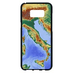 Italy Alpine Alpine Region Map Samsung Galaxy S8 Plus Black Seamless Case