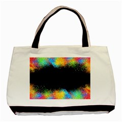 Frame Border Feathery Blurs Design Basic Tote Bag