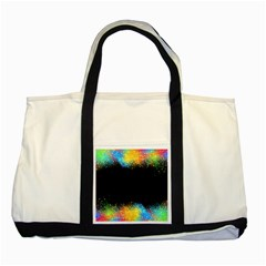 Frame Border Feathery Blurs Design Two Tone Tote Bag
