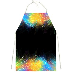 Frame Border Feathery Blurs Design Full Print Aprons