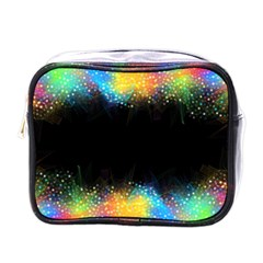 Frame Border Feathery Blurs Design Mini Toiletries Bags