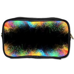 Frame Border Feathery Blurs Design Toiletries Bags