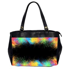 Frame Border Feathery Blurs Design Office Handbags (2 Sides)