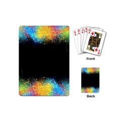 Frame Border Feathery Blurs Design Playing Cards (mini)