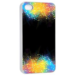Frame Border Feathery Blurs Design Apple Iphone 4/4s Seamless Case (white)