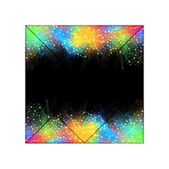 Frame Border Feathery Blurs Design Acrylic Tangram Puzzle (4  X 4 )