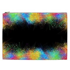 Frame Border Feathery Blurs Design Cosmetic Bag (xxl)