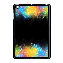 Frame Border Feathery Blurs Design Apple Ipad Mini Case (black)