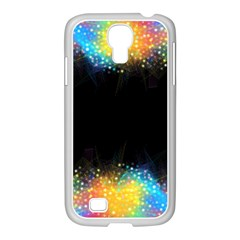 Frame Border Feathery Blurs Design Samsung Galaxy S4 I9500/ I9505 Case (white)